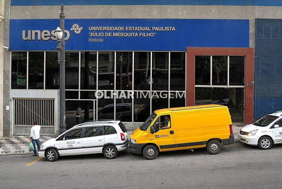 Fachada da escola Universidade Estadual Paulista, UNESP, Sao Paulo. 2018. Foto de Juca Martins.