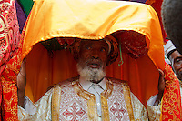 orthodox priest at Timkat with his tabot in Ethiopia