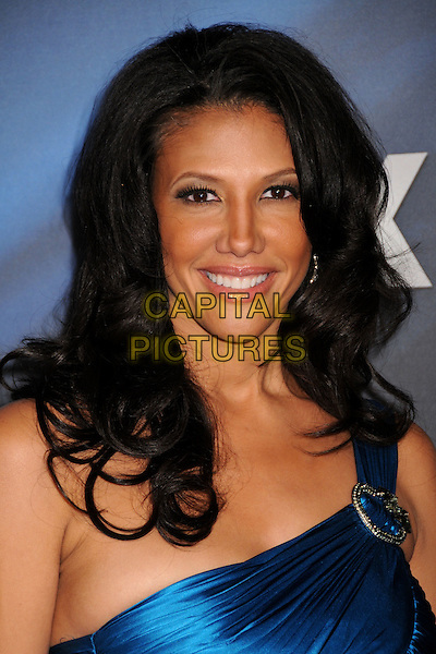 WENDY DAVIS.40th Annual NAACP Image Awards - Arrivals at the Shrine Auditorium, Los Angeles, California, USA..February 12th, 2009.headshot portrait buckle blue silk satin one shoulder .CAP/ADM/BP.©Byron Purvis/AdMedia/Capital Pictures.
