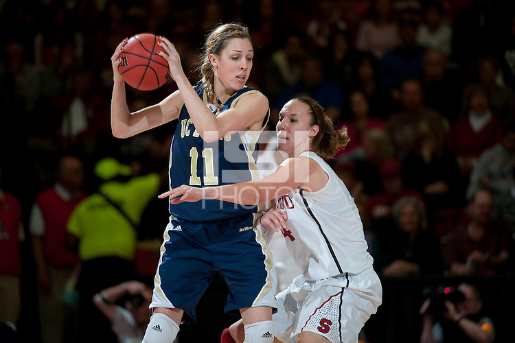 STANFORD, CA - MARCH 19, 2011: Kayla Pedersen at Maples Pavilion, March 19, 2010 in Stanford, California.