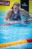 Katinka Hosszu of Hungary celebrates after winning the women's 400m medley final during 18th Fina World Championships Gwangju 2019 at Nambu University Municipal Aquatics Centre, Gwangju, on 28  July 2019, Korea.  Photo by : Ike Li / Prezz Images