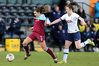 Cecilie Kvamme of West Ham United women and Lucy Quinn of Tottenham Hotspur women during Tottenham Hotspur Women vs West Ham United Women, Barclays FA Women's Super League Football at the Hive Stadium on 12th January 2020