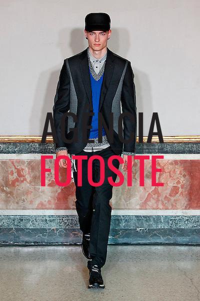 Milao, Italia &ndash; 01/2014 - Desfile de Frankie Morello durante a Semana de moda masculina de Milao - Inverno 2014. <br /> Foto: FOTOSITE
