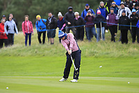 Caroline Masson of Team Europe on the 2nd fairway during Day 2 Fourball at the Solheim Cup 2019, Gleneagles Golf CLub, Auchterarder, Perthshire, Scotland. 14/09/2019.<br /> Picture Thos Caffrey / Golffile.ie<br /> <br /> All photo usage must carry mandatory copyright credit (© Golffile | Thos Caffrey)