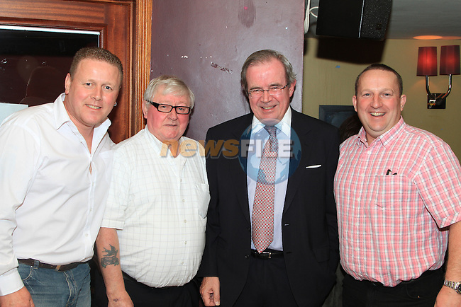 Dod O Donnell, Noel O Donnell, Peter Hughs, and Paul O Donnell at the Peter Lyons' Bakery Reunion in McHughs..Picture: Shane Maguire / www.newsfile.ie.