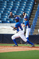 Joe Gunn (35) of Union Area High School in New Castle, Pennsylvania playing for the Chicago Cubs scout team during the East Coast Pro Showcase on July 28, 2015 at George M. Steinbrenner Field in Tampa, Florida.  (Mike Janes/Four Seam Images)