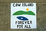 Cow Island Sign
