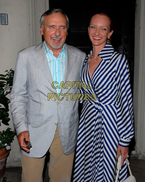 """DENNIS HOPPER & VICTORIA DUFFY.attends The Opening Night of August Wilson's """"Fences"""" held at The Pasadena Playhouse in Pasadena, California, USA, September 1st 2006..half length denis hoper.Ref: DVS.www.capitalpictures.com.sales@capitalpictures.com.©Debbie VanStory/Capital Pictures"""