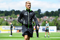 Jake Bidwell of Swansea City arrives for the during the pre season friendly match between Exeter City and Swansea City at St James Park in Exeter, England, UK. Saturday, 20 July 2019