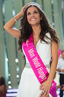 Newly crowned Miss World Hungary Tamara Cserhati poses after winning a joint beauty contest in Budapest, Hungary on June 9, 2012. ATTILA VOLGYI