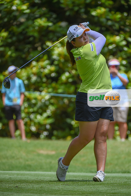 Inbee Park (KOR) watches her tee shot on 3 during round 4 of the U.S. Women's Open Championship, Shoal Creek Country Club, at Birmingham, Alabama, USA. 6/3/2018.<br /> Picture: Golffile | Ken Murray<br /> <br /> All photo usage must carry mandatory copyright credit (© Golffile | Ken Murray)