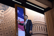 National Harbor, MD - March 6, 2014: Gov. Bobby Jindal (R-LA) exits the stage after addressing attendees of the 2014 Conservative Political Action Conference held at National Harbor, MD March 6, 2014.   (Photo by Don Baxter/Media Images International)