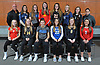 Members of Newsday's 2018 All-Long Island girls volleyball team pose for a group portrat at company headquarters in Melville on Thursday, Nov. 29, 2018. Appearing are, FRONT ROW, FROM LEFT: Caroline LaMacchia of South Side, Abbey Dummler of Commack, Grace Rosenberg of Long Beach, Mia Cergol of Glenn, Grace Riddle of Wantagh and Diana Migliozzi of Connetquot. BACK ROW, FROM LEFT: Anthony Barrone of Commack, Cathleen Farrell of Bayport-Blue Point, Emma McGovern of Long Beach, Emily Barry of Sacred Heart, Molly Jandris of Sachem East, Melena Aldoriso of Plainview JFK, Lauren Weir of Kings Park and Coach Kerri Rehnback of Long Beach.