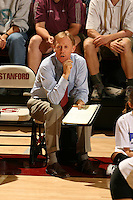 8 October 2005: John Dunning during Stanford's 3-1 loss to Washington at Maples Pavilion in Stanford, CA.