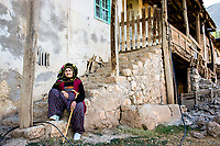 Munzur Valley, Turkey    - July 17, 2014 - A resident of Kedek village sits outside of her house, in Turkey's Munzur Valley. CREDIT: Michael Benanav for The New York Times