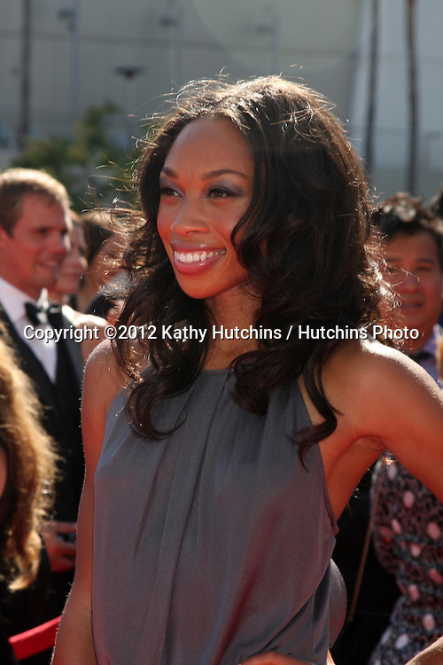 LOS ANGELES - SEP 15:  Allyson Felix arrives at the  Primetime Creative Emmys 2012 at Nokia Theater on September 15, 2012 in Los Angeles, CA