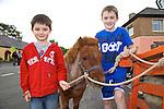 Eanna Murray and Aodhan Murray from Camp enjoying the Camp Sheep Fair on Thursday