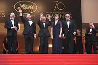 DIRECTOR OF PHOTOGRAPHY MIKHAIL KRICHMAN, ALEXEI ROZIN, DIRECTOR ANDREY ZVIAGINTSEV, MARYANA SPIKAV AND PRODUCER ALEXANDER RODNYANSKY - RED CARPET OF THE FILM 'LOVELESS (NELYUBOV)' AT THE 70TH FESTIVAL OF CANNES 2017