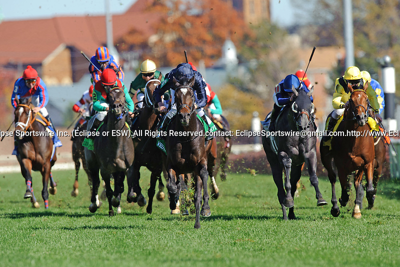 Ryan Moore aboard Wrote  Wins The Breeders' Cup Juvenile Turf (Grade I) at Churchill Downs in Louisville, KY  on 11/05/11. (Ryan Lasek / Eclipse Sportwire)