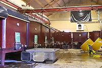 painted steel tanks domaine michel juillot mercurey burgundy france