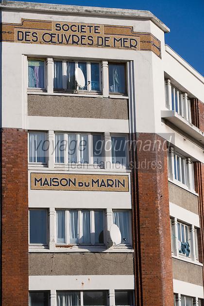 Europe/France/Normandie/Haute-Normandie/76/Seine-Maritime/Le Havre: Détail  de la Maison du Marin sur le port de commerce -