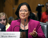 "United States Senator Mazie Hirono (Democrat of Hawaii) testifies before the US Senate Committee on Finance ""Hearing to Consider the Graham-Cassidy-Heller-Johnson Proposal"" on the repeal and replace of the Affordable Care Act (ACA) also known as ""ObamaCare"" in Washington, DC on Monday, September 25, 2017.  Graham is the lead author of the bill.  Senator Hirono testified on her recent cancer diagnosis and the need for health insurance to help pay the medical expenses to treat it.<br /> Credit: Ron Sachs / CNP"