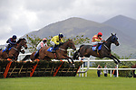 14-5-2017: Owen Na View (Alain Cawley) leads Velvet Maker (Denis O'Regan)the field in the Redweld Stables Handicap Hurdle on the opening day of the Killarney Races 3 day festival of racing on Sunday.<br /> Photo: Don MacMonagle<br /> <br /> repro free photo KRC