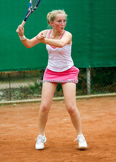 10-08-11, Tennis, Hillegom, Nationale Jeugd Kampioenschappen, NJK, Kelly Hassings