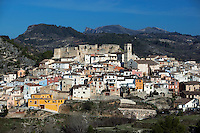 Spain, Costa Blanca, Planes de la Baronia: Village with castle in Gallinera Valley | Spanien, Costa Blanca, Planes de la Baronia: traditionelles Bergdorf mit Burg im Vall de Gallinera