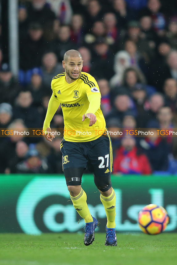 Adlene Guedioura of Middlesbrough during Crystal Palace vs Middlesbrough, Premier League Football at Selhurst Park on 25th February 2017