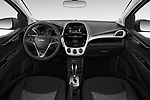 Stock photo of straight dashboard view of a 2020 Chevrolet Spark 1LT 5 Door Hatchback