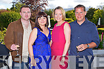 Mark Lucey, Amy Slattery, Catherine O'Shea and Sean Moynihan, Tralee  pictured at a concert by Jerry Fish and friends a Fundraiser for the Niall Mellon South African Township at the Ballygarry House Hotel on Sunday.