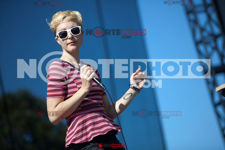 AUSTIN, TX - OCTOBER 14: Polica performs at the 2012 Austin City Limits Music Festival in Austin, Texas. October 14, 2012. ©Joe Gall/MediaPunch Inc. /NortePhotoAgency