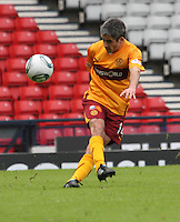 Keith Lasley passing the ball upfield
