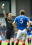 Rangers v St Johnstone....28.08.10  .Ref Callum Murray books Sasa Papac.Picture by Graeme Hart..Copyright Perthshire Picture Agency.Tel: 01738 623350  Mobile: 07990 594431
