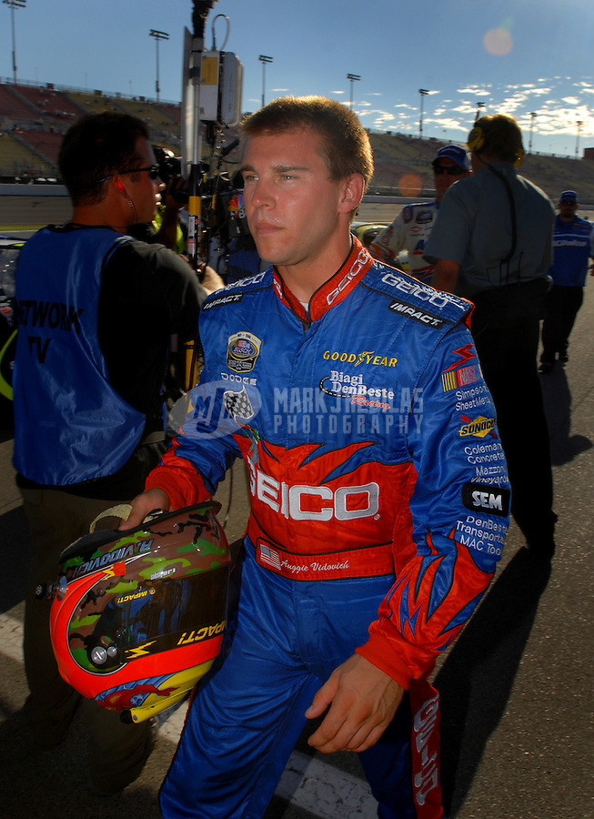 Sept. 2, 2006; Fontana, CA, USA; Nascar Busch Series driver Auggie Vidovich (4) during the Ameriquest 300 at California Speedway. Mandatory Credit: Mark J. Rebilas