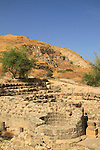 Israel, Sea of Galilee, ruins of the Roman city in Tiberias, the city gate complex