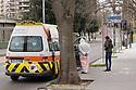 3 aprile 2020, Sassari, viale Italia. Ospedale Santissima Annunziata. Davanti all'ingresso del Pronto Soccorso.