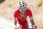 Jesus Herrada (ESP) Cofidis attacks during Stage 7 of the La Vuelta 2018, running 185.7km from Puerto Lumbreras to Pozo Alc&oacute;n, Spain. 31st August 2018.<br /> Picture: Unipublic/Photogomezsport | Cyclefile<br /> <br /> <br /> All photos usage must carry mandatory copyright credit (&copy; Cyclefile | Unipublic/Photogomezsport)