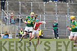 Kerry's Tom Murnane and Armagh's Barry Breen.