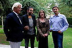 12.09,2012. . Tribute to the French Embassy in Madrid to Eric Toledano and Olivier Nakache, movie directors ' Intouchables'. In the image (L-R) Bruno Delaye (Ambassador of France), Eric Toledano, Carmen Maura and Olivier Nakache (Alterphotos/Marta Gonzalez)