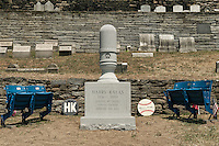 Burial site of Harry Kalas, the voice of the Philadelphia Phillies, USA
