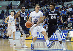 February 28, 2015 - Colorado Springs, Colorado, U.S. -  Air Force forward, Hayden Graham #35, drives for the basket during an NCAA basketball game between the Utah State Aggies and the Air Force Academy Falcons at Clune Arena, U.S. Air Force Academy, Colorado Springs, Colorado.   Utah State defeats Air Force 74-60.