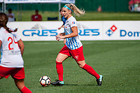 Kansas City, MO - Wednesday August 16, 2017: Julie Ertz during a regular season National Women's Soccer League (NWSL) match between FC Kansas City and the Chicago Red Stars at Children's Mercy Victory Field.
