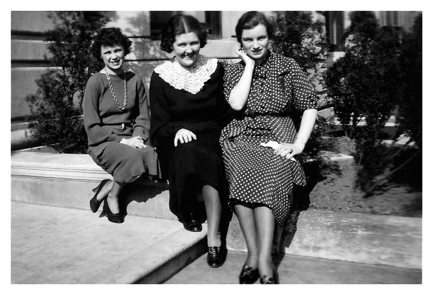 From left Mary O'Keefe '36, Elene Fernald, Ione Robertson Alumni, 1936, historic