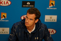 ANDY MURRAY (GBR)<br /> <br /> TENNIS - GRAND SLAM ITF / ATP  / WTA - Australian Open -  Melbourne Park - Melbourne - Victoria - Australia  - 19 January 2016<br /> <br /> &copy; AMN IMAGES