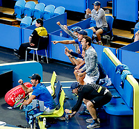 5th January 2020; RAC Arena, Perth, Western Australia; ATP Cup Australia, Perth, Day 3; Italy versus Norway; team Italy celebrate winning the doubles against Norway 2 sets to love - Editorial Use