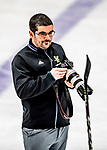 16 February 2019: University of Vermont Catamount Director of Athletic Communications and Broadcasting Nich Hall takes photographs following a Women's Ice Hockey game against the Holy Cross Crusaders at Gutterson Fieldhouse in Burlington, Vermont. The Lady Cats defeated the Crusaders 4-1 to sweep their 2-game weekend series. Mandatory Credit: Ed Wolfstein Photo *** RAW (NEF) Image File Available ***