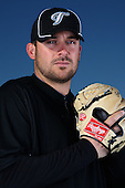 March 1, 2010:  Pitcher Dana Eveland (78) of the Toronto Blue Jays poses for a photo during media day at Englebert Complex in Dunedin, FL.  Photo By Mike Janes/Four Seam Images