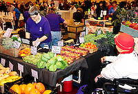 The Dane County Farmer's Market moves into Monona Terrace Community and Convention Center on Saturday, 11/17/12, in Madison, Wisconsin
